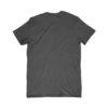 back of a blank black t-shirt