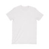 front of a blank white t-shirt