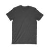 front of a blank black t-shirt