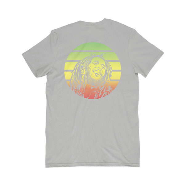 iron like a lion from zion gray t-shirt back
