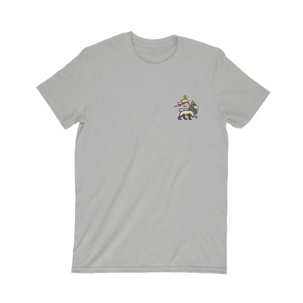 iron like a lion from zion gray t-shirt front