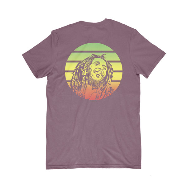 iron like a lion from zion maroon t-shirt back