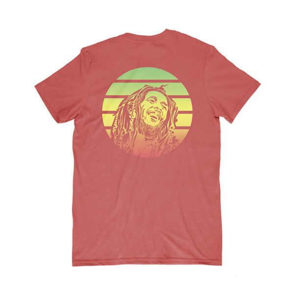 iron like a lion from zion red t-shirt back