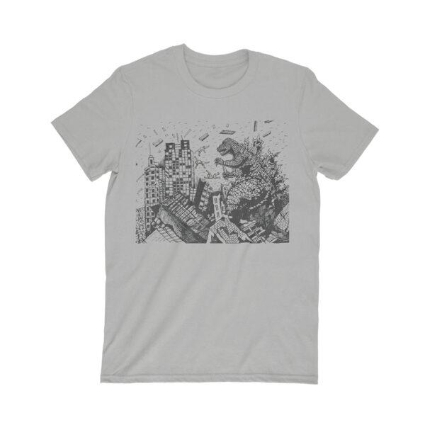 godzilla t-shirt gray