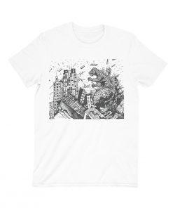 godzilla t-shirt white