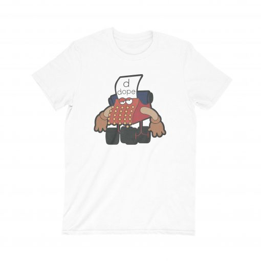 Muppet Typewrite D for Dope T-shirt white